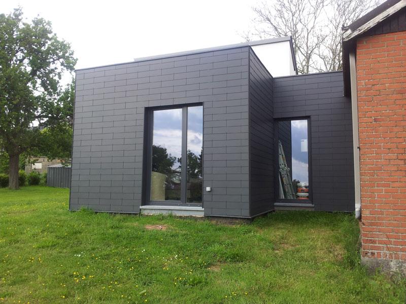 Bardage extension de maison